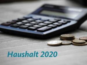 Rede zur Verabschiedung des Haushalts 2020